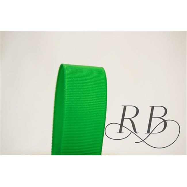 Ribbon Bazaar 4781 0.63 in. Solid Grosgrain Ribbon, Kelly Green - 50 Yards
