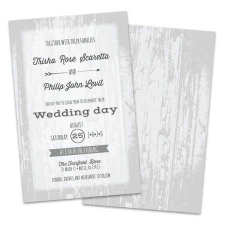 Personalized Barn Door Wedding Invitations](Barn Dance Invitations)