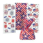 Patriotic Cellophane Bags Assortment (3Dz) - Party Supplies - 36 Pieces