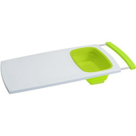 Over-The-Sink Cutting Board With Colander ()