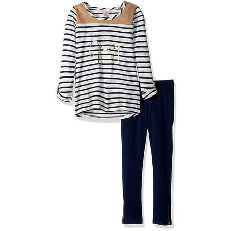 Juicy Couture Girls 2T-4T Stripe Tunic Legging Set (Navy 3T)