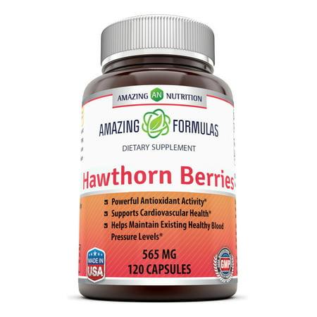 Amazing Formulas Hawthorn Berries 565 Mg 120 Capsules