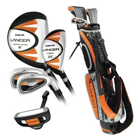 Intech Lancer Junior Golf Club Set (RH Orange Ages 8-12) ()