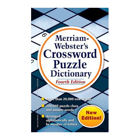 Merriam-Webster's Crossword Puzzle Dictionary - Halloween Crossword Puzzles Answer