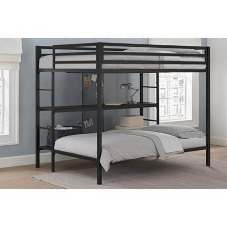 Dorel Dhp Ultimate Full Over Twin Metal Bunk Bed With Storage Black