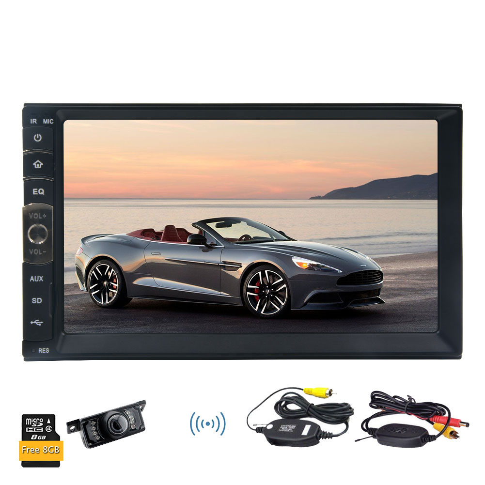 7'' 2 DIN car player In HD Dash Bluetooth Touch Screen Car Stereo Radio MP3 Player by OAKES