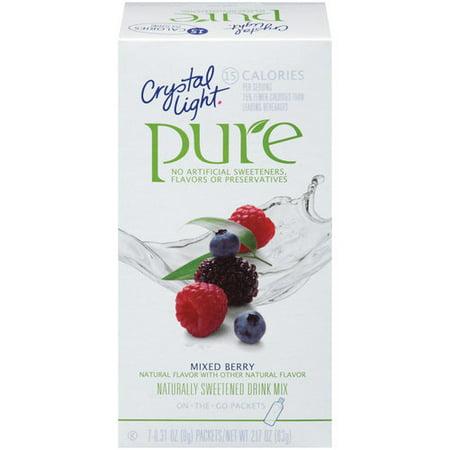 Crystal Light Pure Mixed Berry Drink Mix 7ct Walmart Com