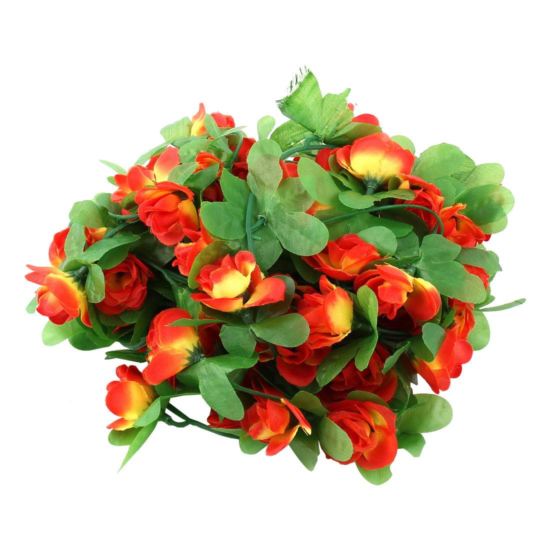 Wedding Plastic Artificial Flower Hanging Wall Basket Wedding Party Garden Wall Decoration Ivy Vine 2pcs