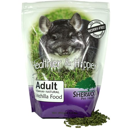 - Chinchilla Food, Adult by Sherwood Pet Health - Timothy blend (Grain & Soy-Free) - 4.5 lb. (Vet Used)
