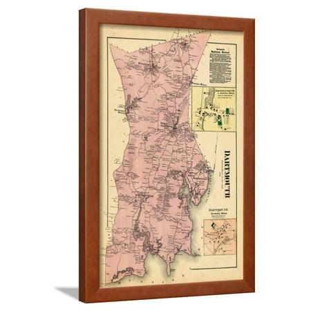 1871, Dartmouth, Smith Mills Town, Russells Mills Town, Massachusetts, United States Framed Print Wall Art