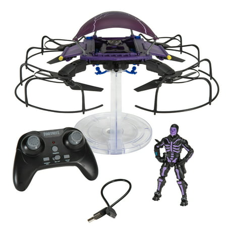 Fortnite Cloudstrike Glider Drone with 4u0022 Skull Trooper Purple Glow Figure Included (4u0022 Peely Figure Shown Sold Separately)