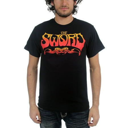 The Sword - Mens Fire and Ice Logo T-Shirt in Black