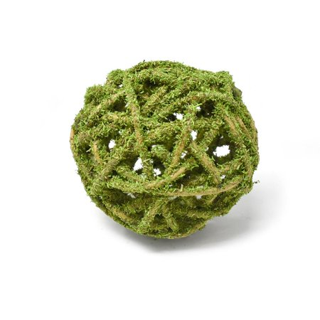 - Decorative Curly Willow Ball Bowl Filler, Mosscoat, 4-Inch