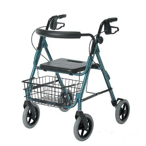Medline Guardian Deluxe Rollators with 8-in Wheels 30.75-36-in 300 lb weight capacity