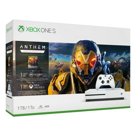 Microsoft Xbox One S 1TB Anthem Bundle, White, 234-00938