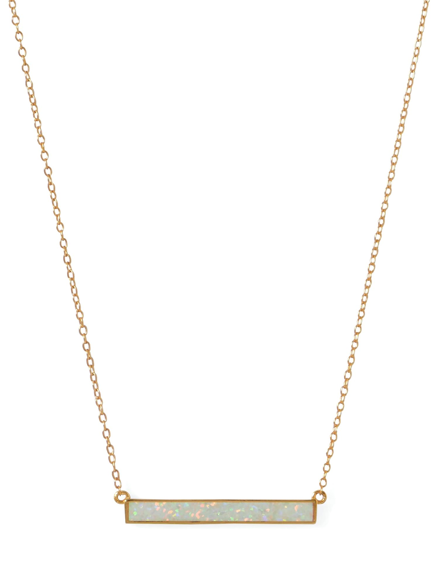 Opal necklace  opal bar necklace