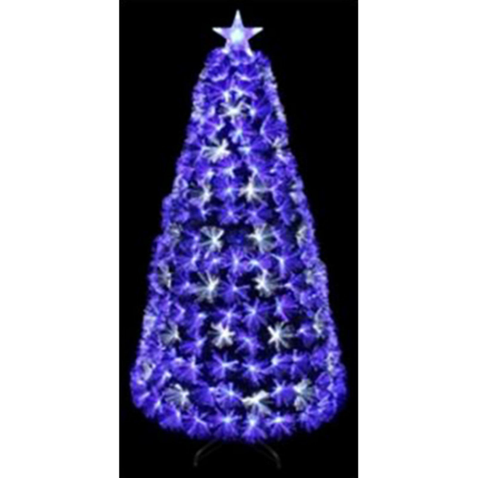 CHRISTMAS TREE FIBER OPTIC BLUE & WHITE FIBER LED ...