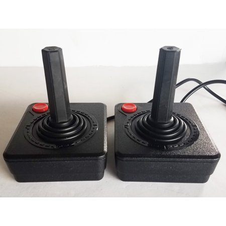Two Red Button Joystick Controllers for Atari 2600, Atari 7800, and Atari Flashback Systems (Joystick And Arcade Buttons)