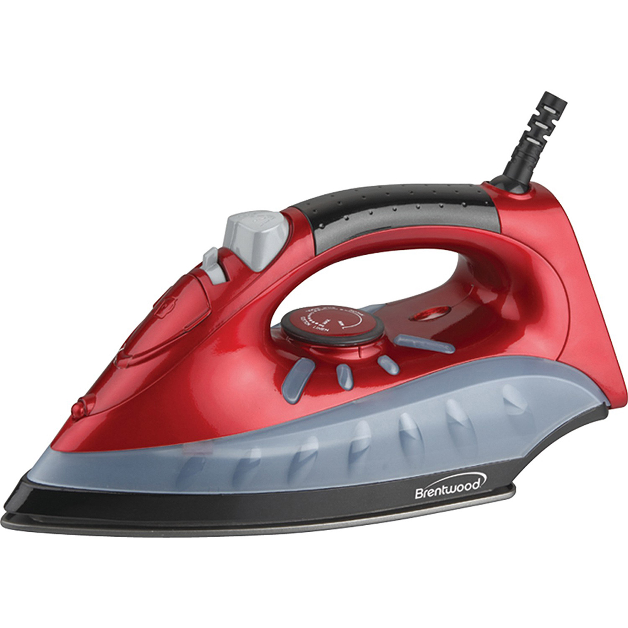 Brentwood MPI-61 Non-Stick Steam/Dry Spray Iron, Red