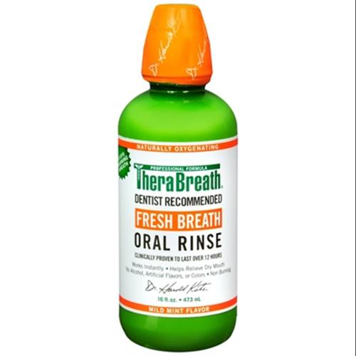 TheraBreath Fresh Breath Oral Rinse 16 oz (Pack of 2)
