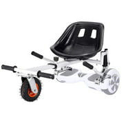All In One Hover Cart Attachment For Hoverboard - Transform your Hoverboard into a Go Kart with Hovercart - White