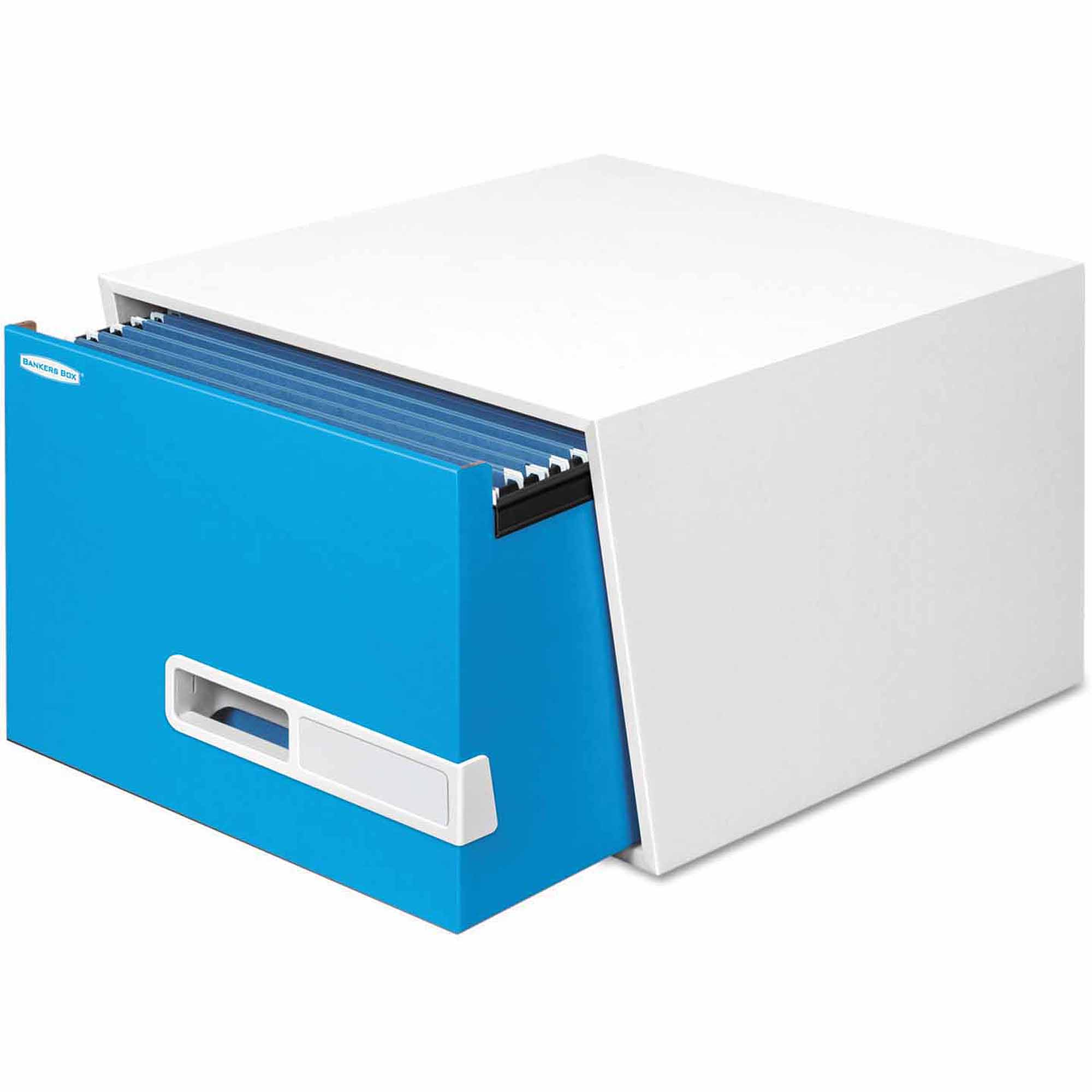 """Bankers Box Stor/Drawer Premier Extra Space Savings Storage Drawers, 24"""" Legal, Blue, 5-Count"""