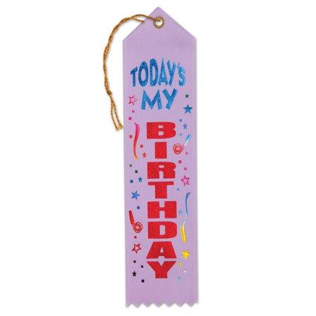 Today's My Birthday Award Ribbon (Pack of 6) ()
