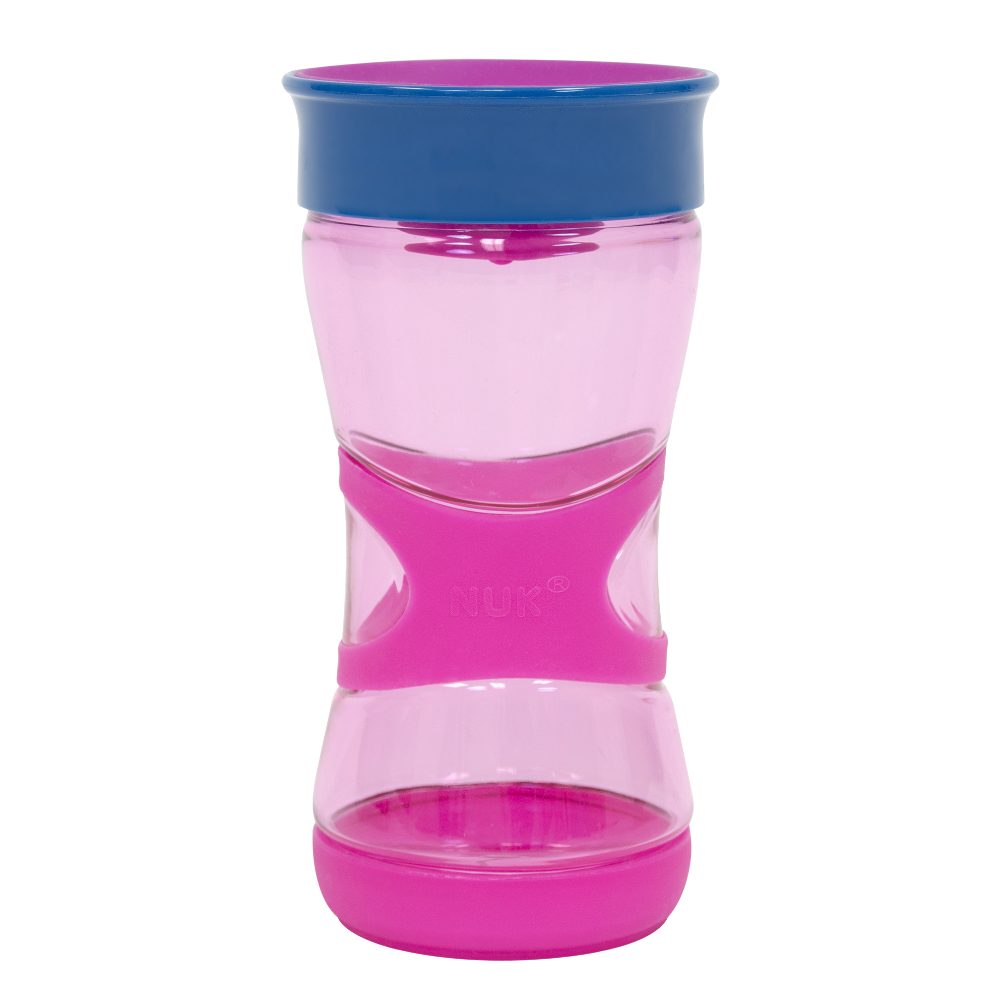 NUK Kids Magic 360 Rim Ultra Grip Cup,13 ounce, 1-pack, pink