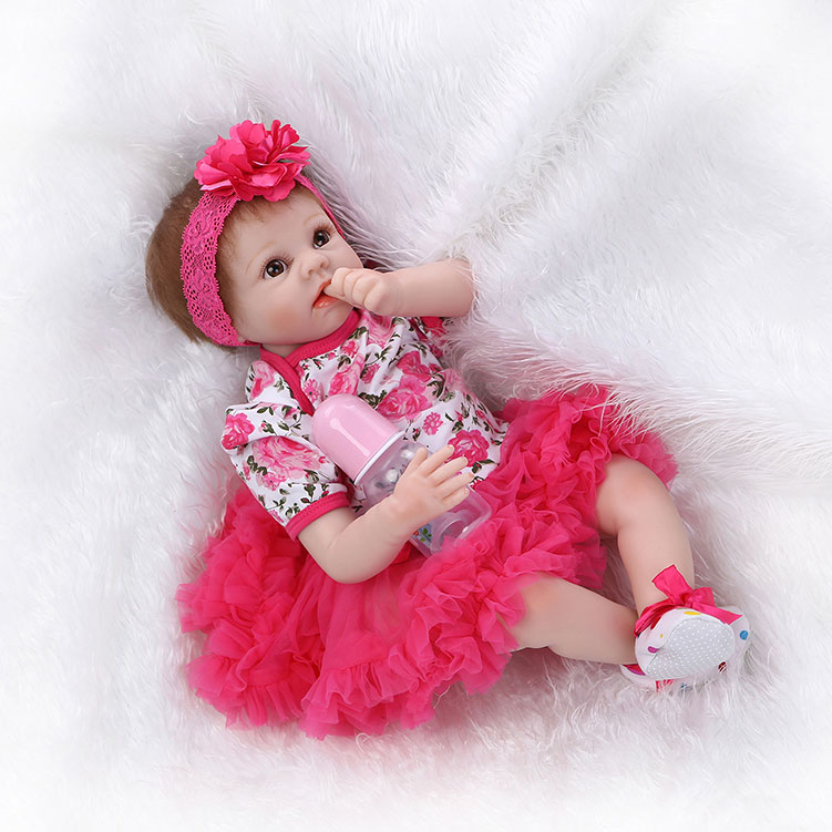 Ktaxon New 22inch Handmade Lifelike Baby Girl Doll Silicone Vinyl Reborn Newborn Dolls Baby Boy Girl Toy for Gift