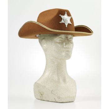 CHILD COWBOY HAT W/BADGE