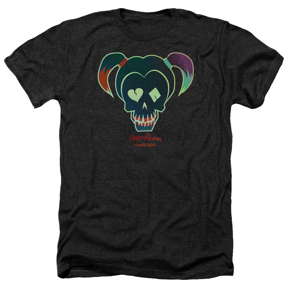 Suicide Squad Harley Skull Mens Heather Shirt