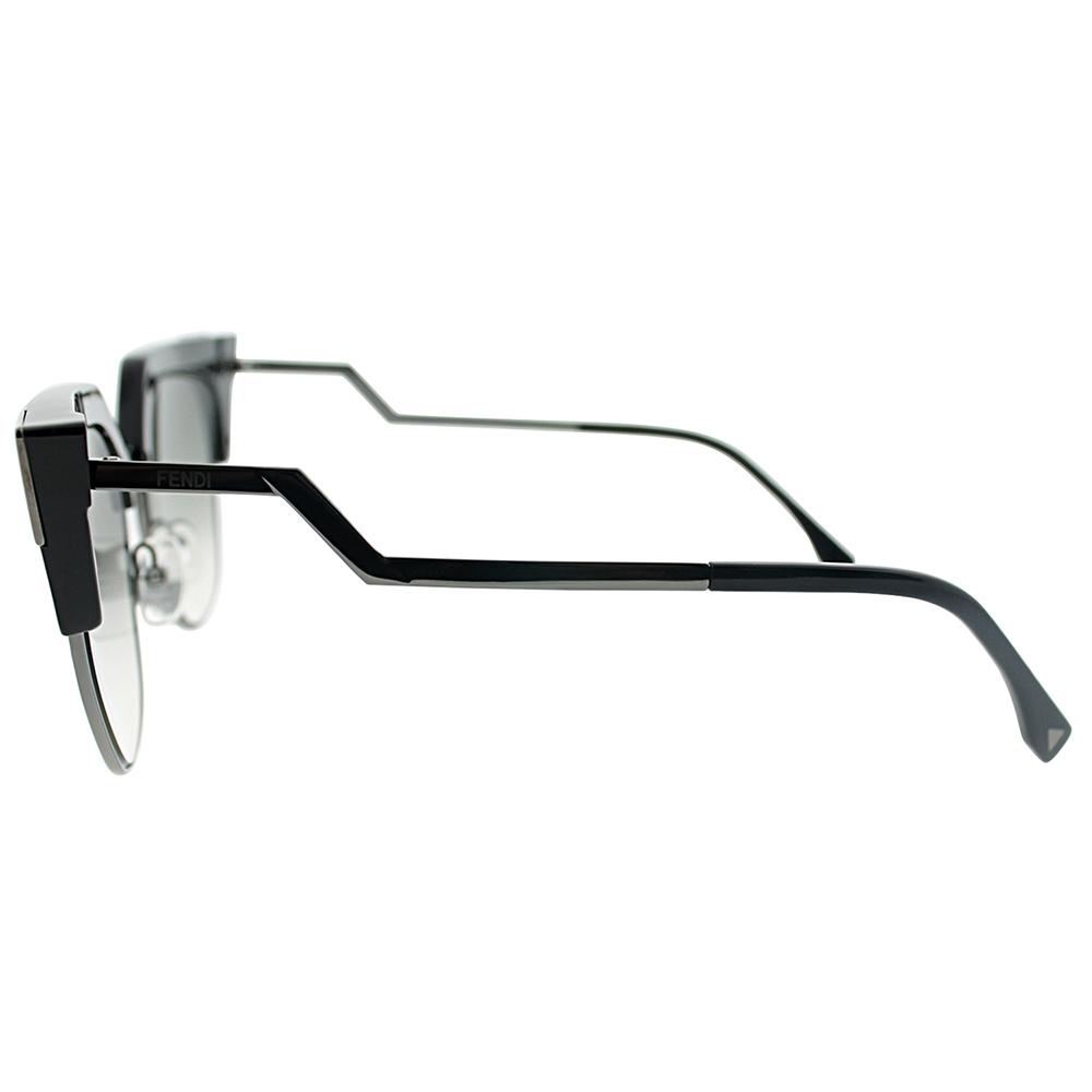 1ae24f0d3f5e Fendi - Fendi FF 0149 S 0KKL Iridia Black Ruthenium Cateye Sunglasses -  Walmart.com