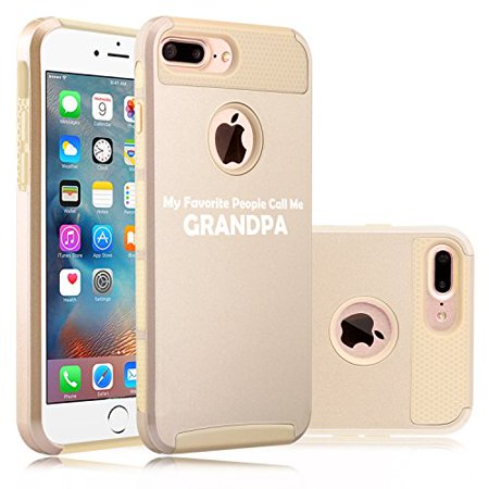 For Apple (iPhone 8 Plus) Shockproof Impact Hard Soft Case Cover My Favorite People Call Me Grandpa