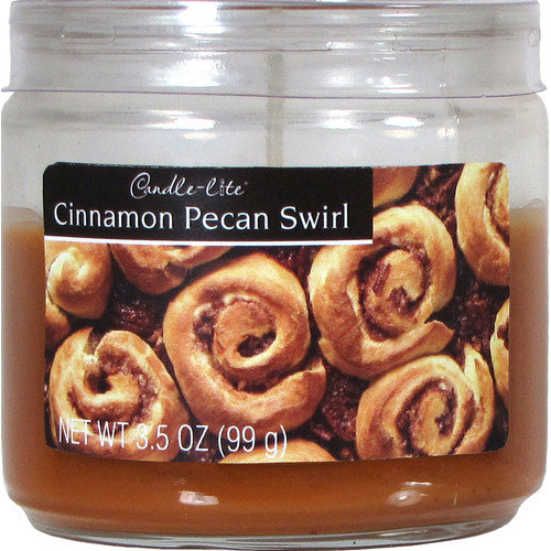 Fortune Products Candle-Lite Cinnamon Pecan Jar Candle (Set of 4)