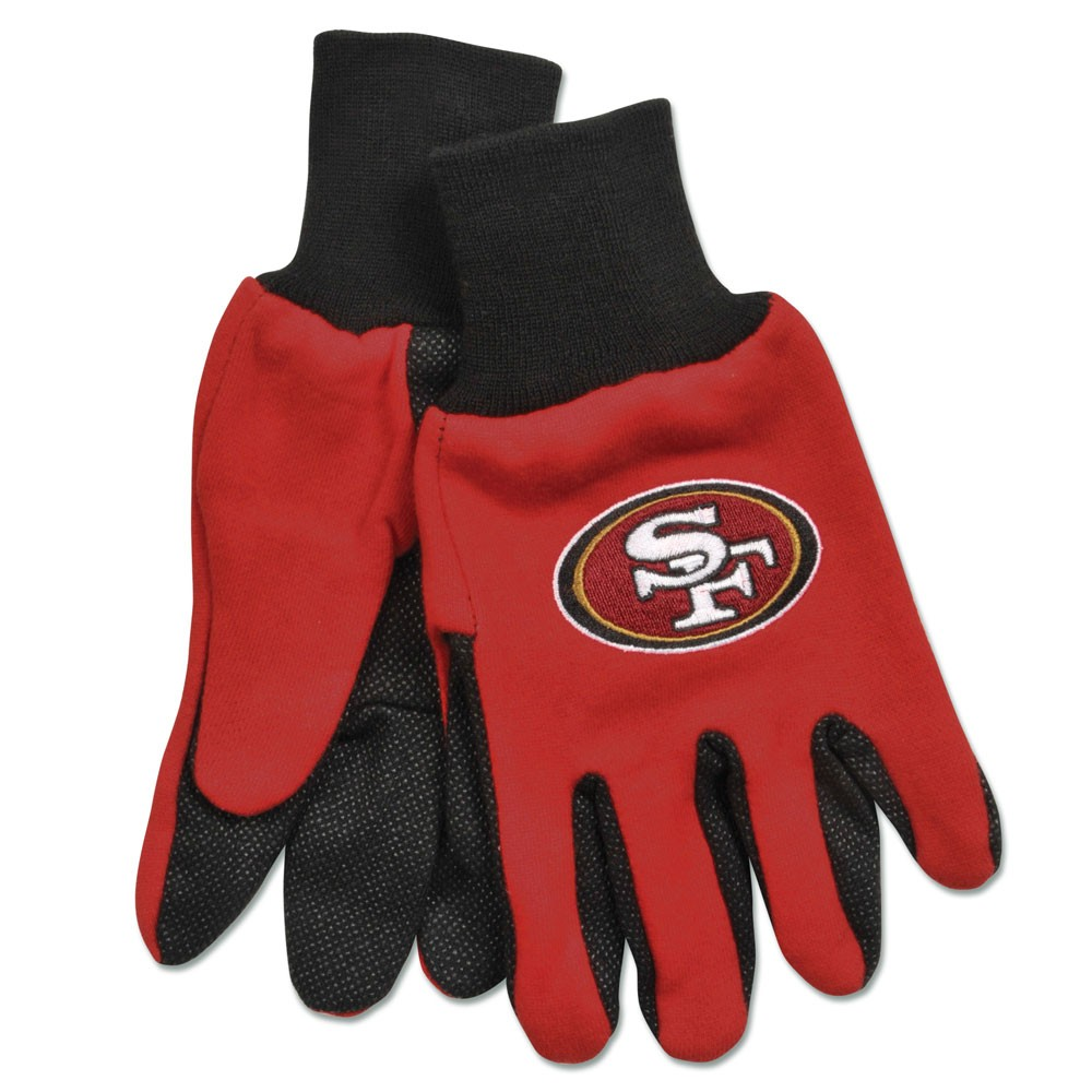 San Francisco 49ers Official NFL One Size Sport Utility Work Gloves by WinCraft