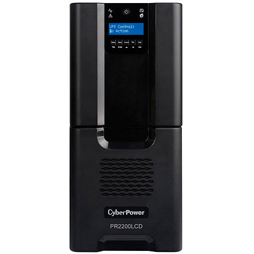 CyberPower PR2200LCD 2200V Smart App SiNewave Mini-Tower Uninterruptible Power Supply by Cyber Power Systems