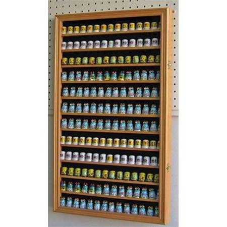 180 Thimble Display Case Wall Cabinet Shadow Box, with glass door, TC10-OA