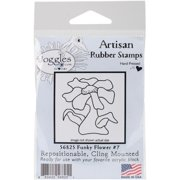 """Joggles Cling Stamp 2""""x2""""-funky Flower #7"""