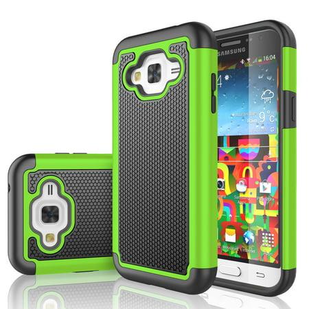 size 40 9efc5 ada66 J3 Case, J3 V Case, Galaxy Sol Case, Tekcoo [Tmajor Series] Shock Absorbing  Hybrid Rubber Plastic Defender Rugged Slim Hard Case Cover For Samsung ...
