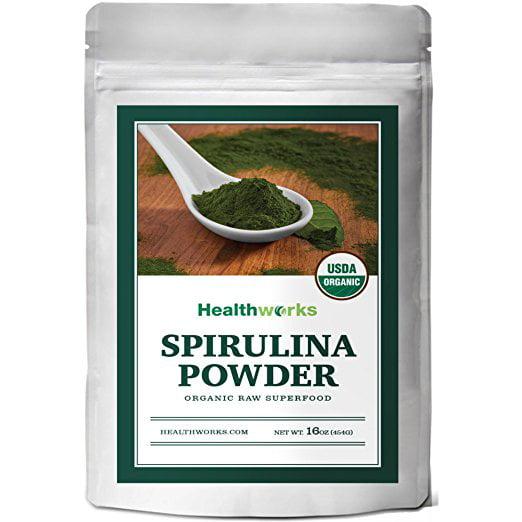 Healthworks Spirulina Powder Raw Organic, 1lb