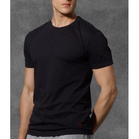 c880d13498 Men's Polo Ralph Lauren 3-Pack Slim Fit Cotton Crew Neck T-shirts -  Black/Grey - M