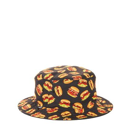 Men's Hamburger Bucket Hat - Hamburger Hat