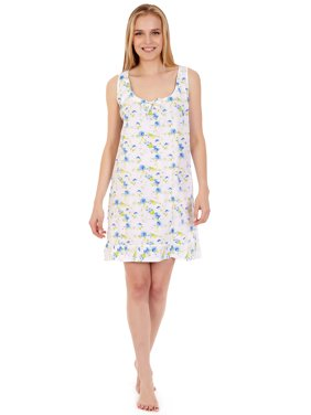 Product Image 904 Womens Nightgown Sleepwear Cotton Pajamas - Woman  Sleeveless Sleep Dress Nightshirt Purple M. Lati Fashion aa65b78f6