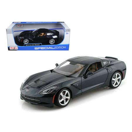 2014 Chevrolet Corvette C7 Stingray Dark Blue 118 Diecast Model Car