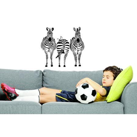 New Wall Ideas Three Zebras 10x20