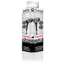 Maxell Wild Things Earbuds w/ Mic - Black/Purple