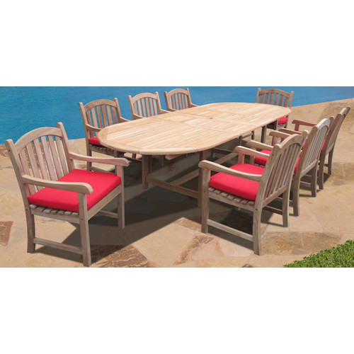 Forever Patio Verano 9 Piece Dining Set with Cushions