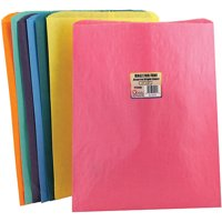 COLORFUL PAPER BAGS 12X15 ASSTD COLORS PINCH BOTTOM
