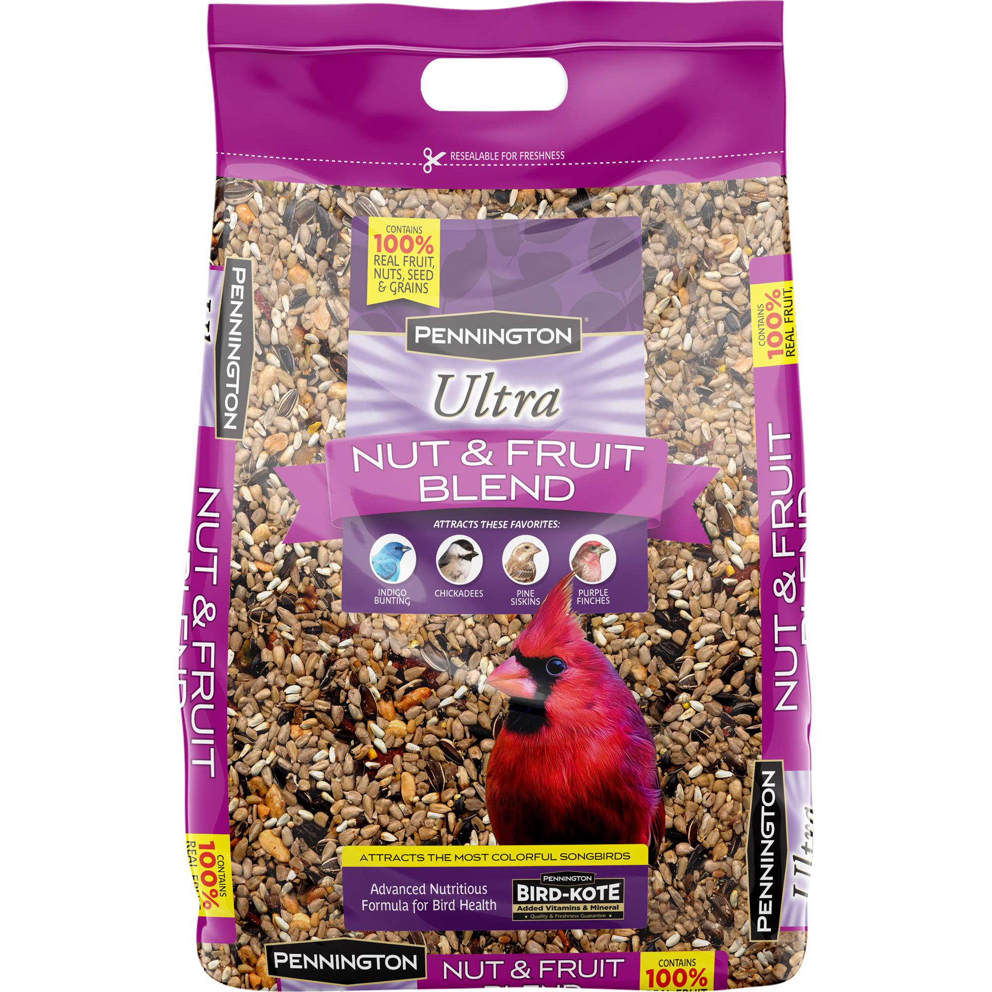 Pennington Ultra Fruit and Nut Blend Wild Bird Seed, 12 lbs