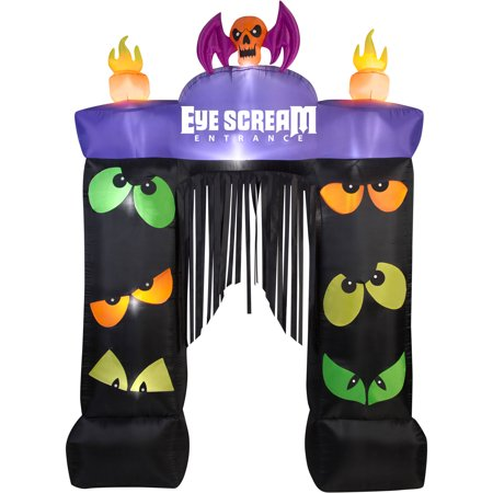 Gemmy Airblown Inflatable 9.5' X 7' Archway Eye Scream Halloween Decoration
